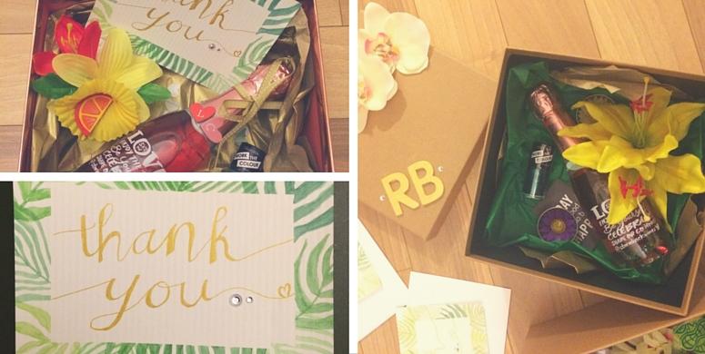 Making personalised bridesmaid boxes