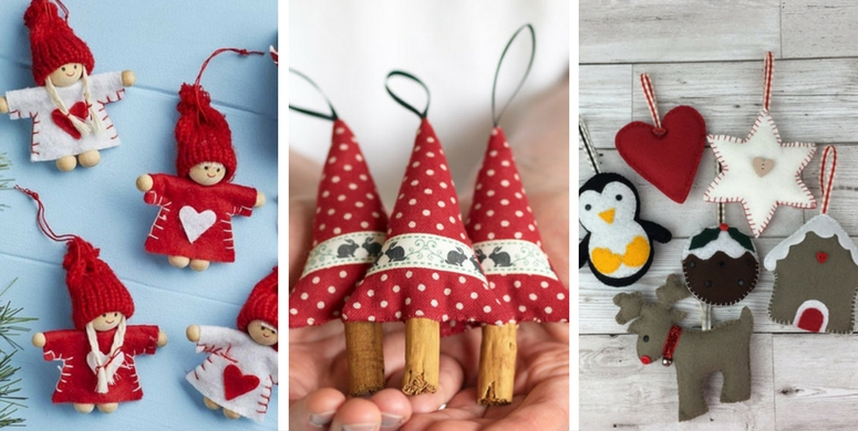 Handmade Christmas decorations from Etsy